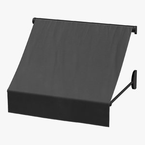 3D store awning 02 black model