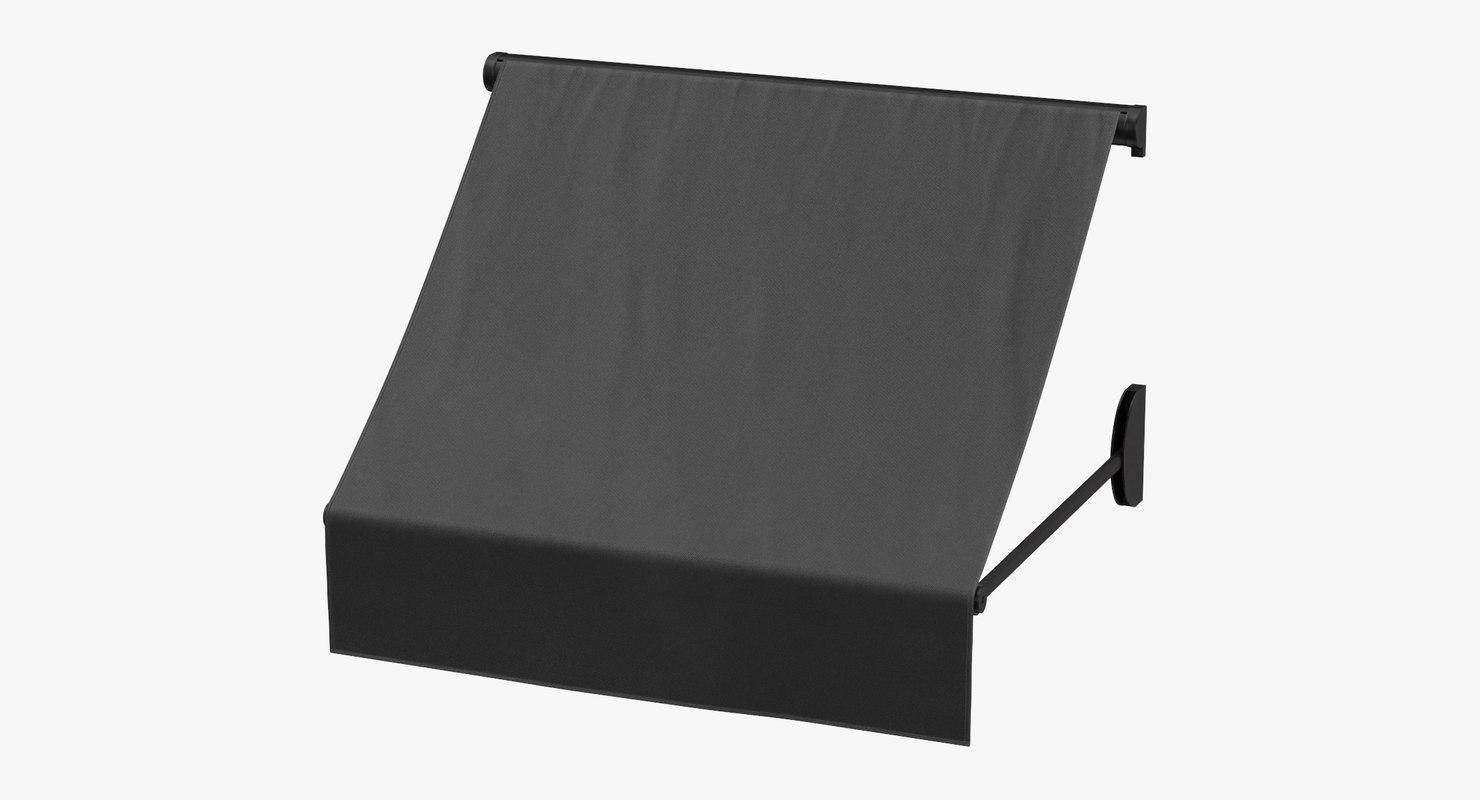 3D store awning 02 black model