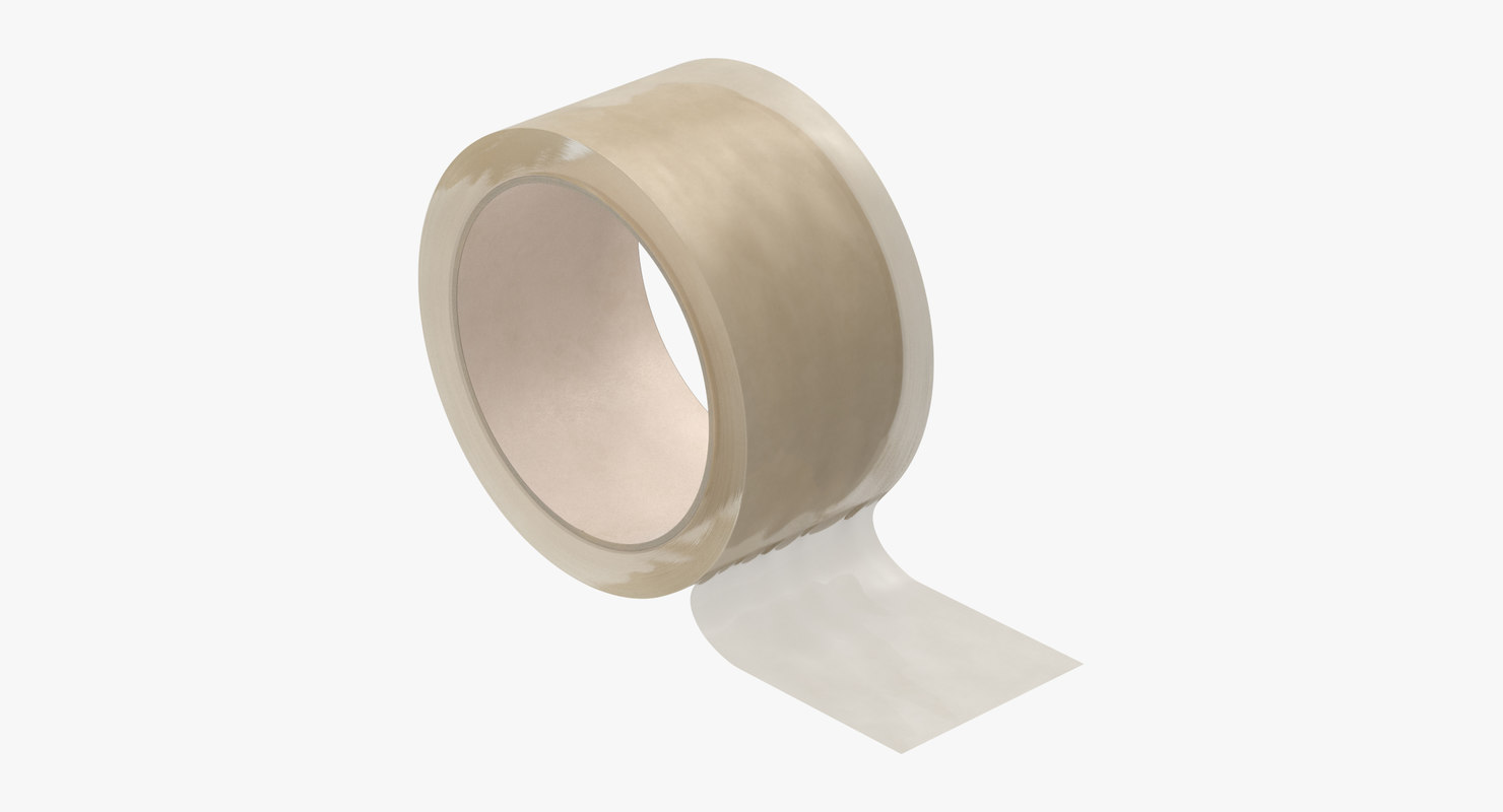 packing tape clear 01 3D model