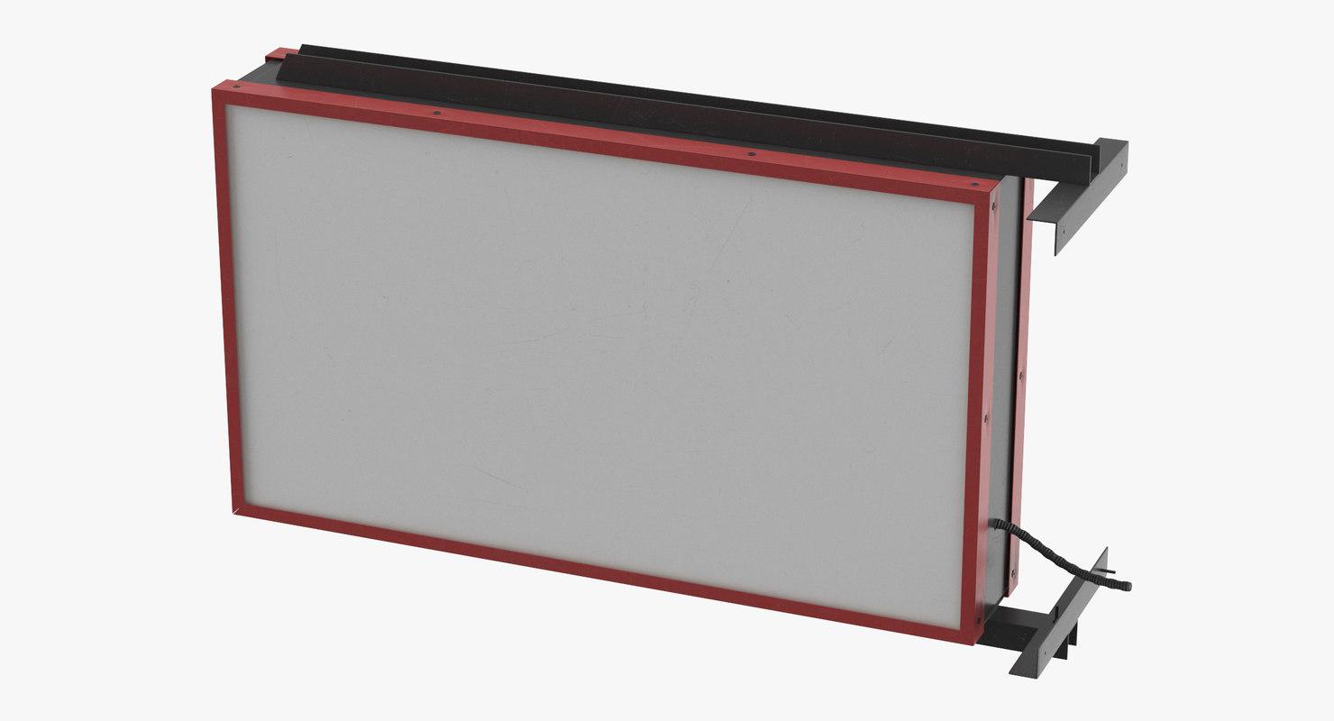 storefront sign 05 3D model