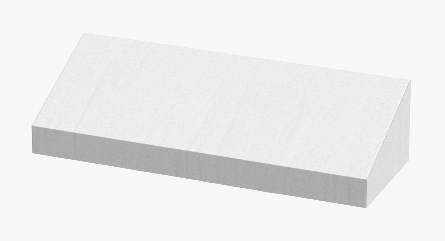 3D store awning 01 white model