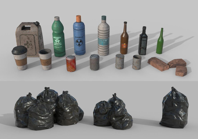 3D urban garbage