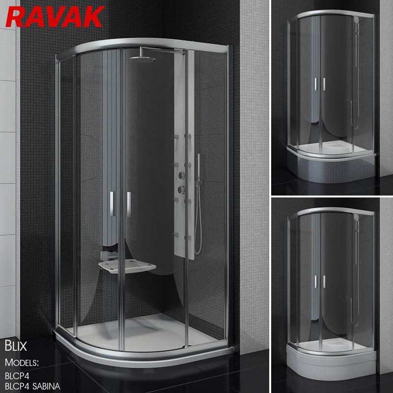 shower ravak blix 3D