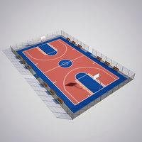 basketball court model