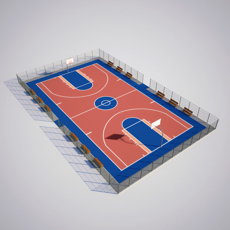 basketball court model