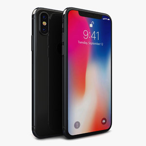 apple iphone x space 3D model