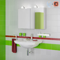 3D bathroom interior scene