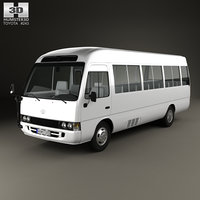 3D toyota coaster 2014 model