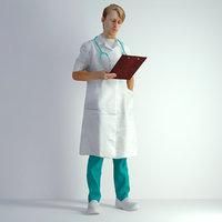 3D Scan Man Doctor 022