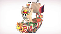 thousand sunny piece 3D model