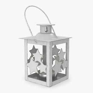 3D christmas stars lantern model