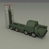 s-300 missile 3D model