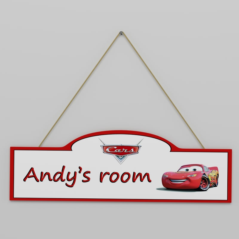 3D children room sign