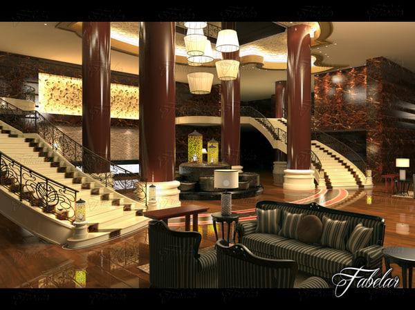 3D hotel hall