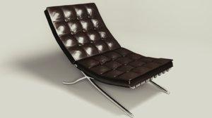 chair barselona 3D