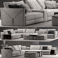 3D model bastian sofa