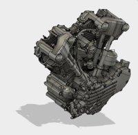 3D twin cam model