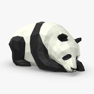 3D panda---lying