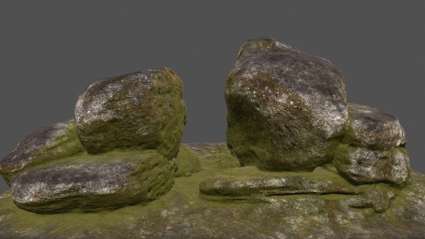 moss rock 3D