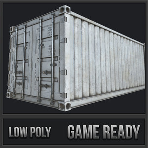 cargo container pbr 3D model