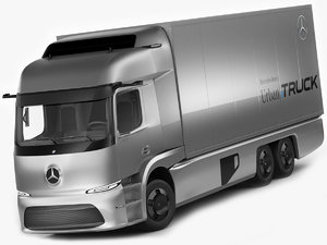 3D mercedes urban etruck