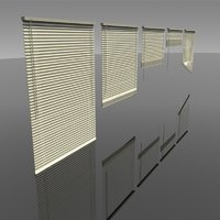 3D blinds interior lighting model