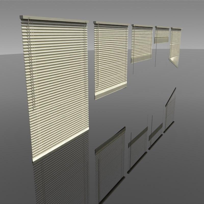 3D blinds interior lighting model