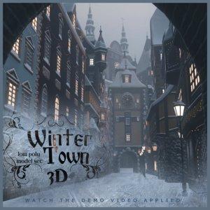 winter town model
