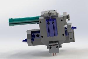 xz axis conveying mechanism 3D model