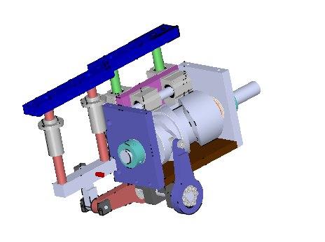 3D cam mobile mechanism model