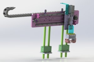 adjustable clamping mechanical 3D model