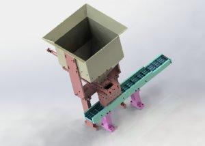 3D equal quantity hopper