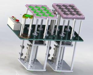 3D lifting stacking platform mechanism model