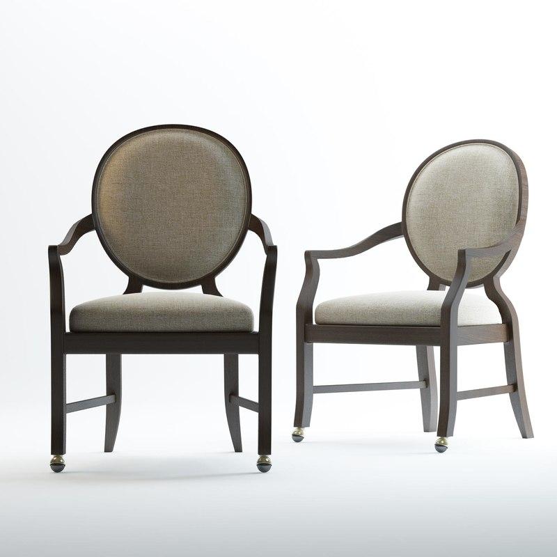 3D fairfield oakwood arm chair