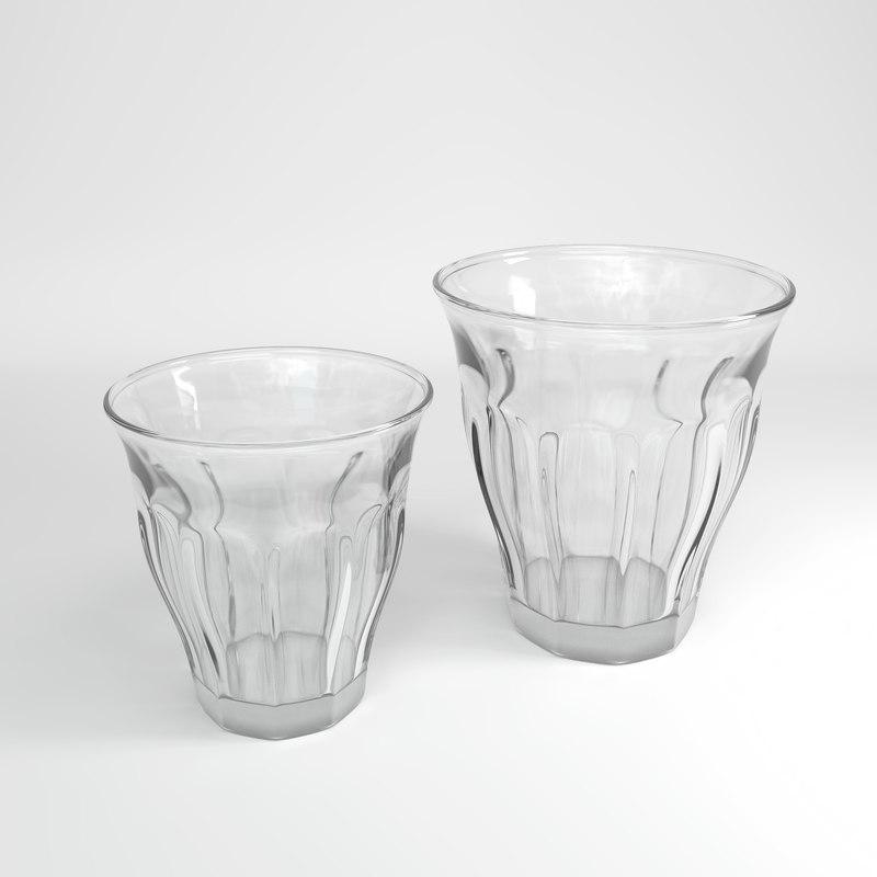 retro coffee cups 3D model