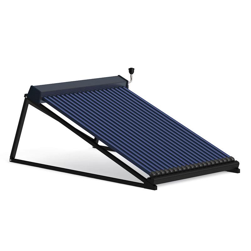 3D solar heater model
