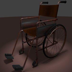 3D model wheelchair rust