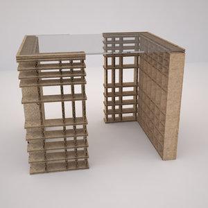 paperboard table 3D model
