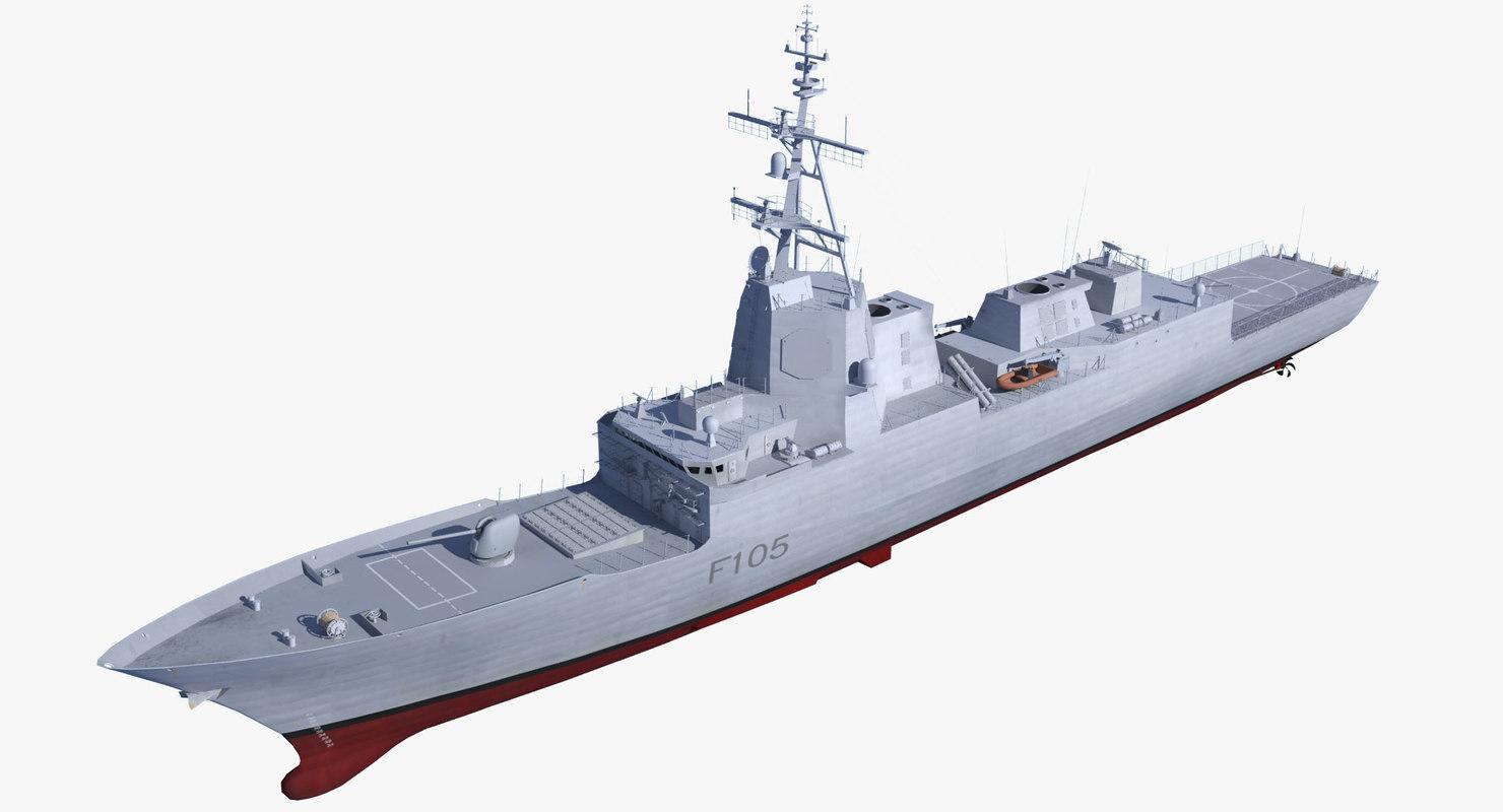 3D frigates spanish navy model