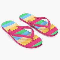 3D flip flop sandals