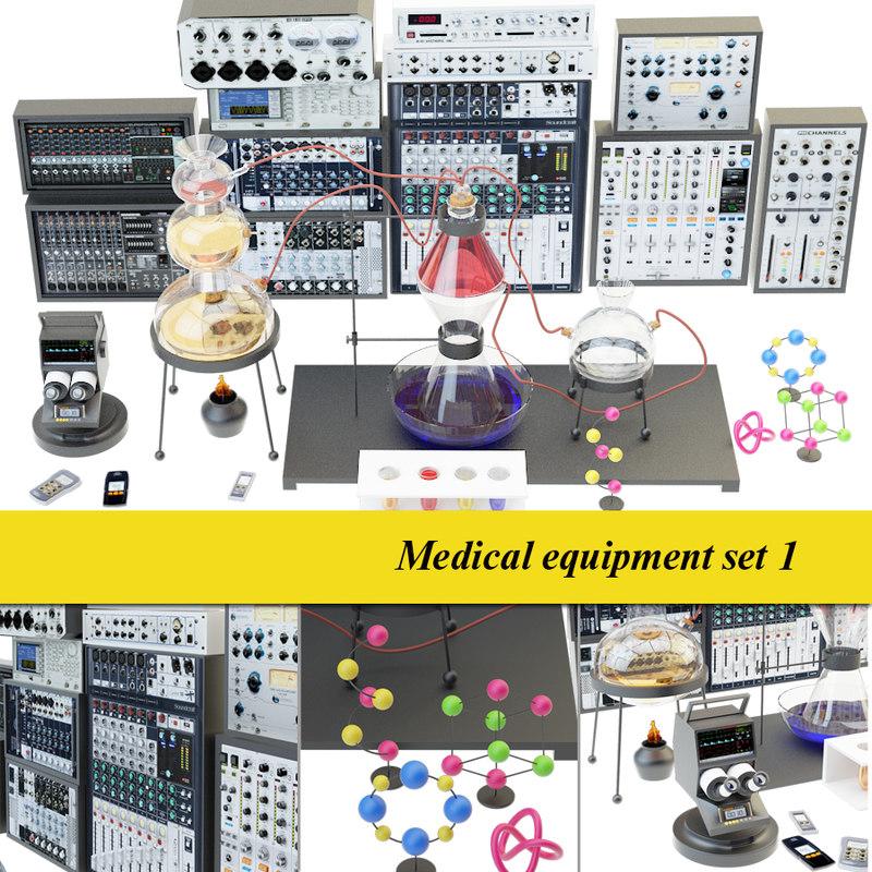 medical laboratory set 1 3D model