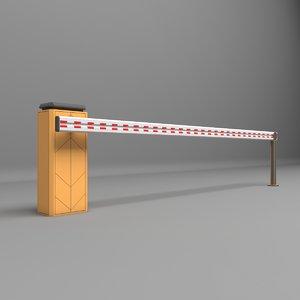 barrier parkin park 3D model