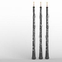3D oboe model