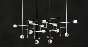 3D model chandelier lyra alison berger