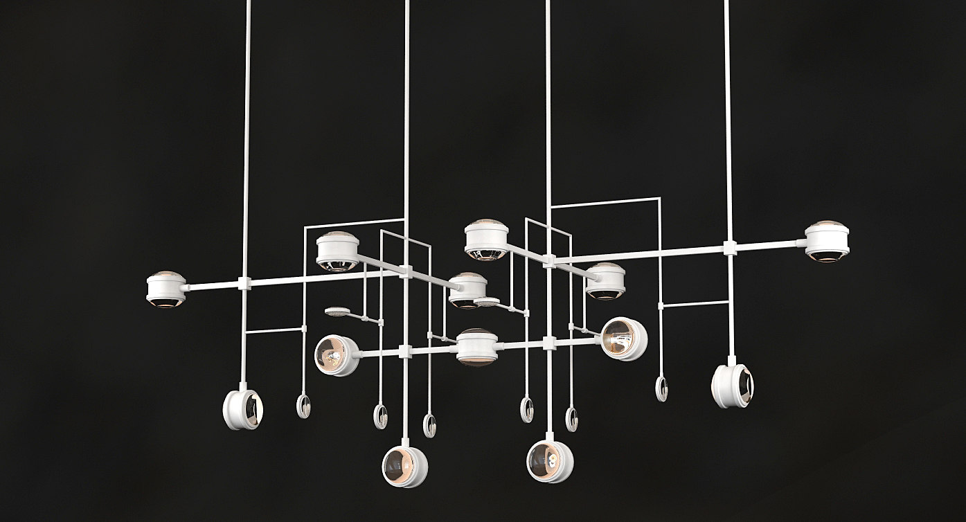 3D model chandelier lyra alison berger