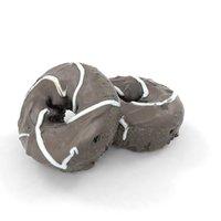 3D bonbon chocolate chocolat donut