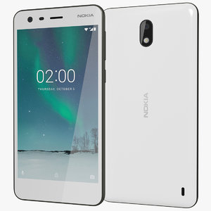 realistic nokia 2 pewter 3D