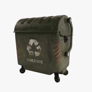 garbage dumpster model