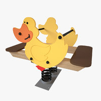 3D model playground spring duck