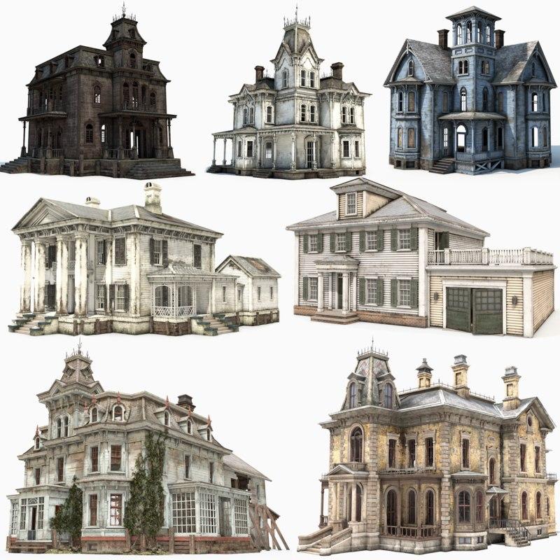 old abandoned house games model